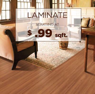 Laminate starting at $ .99 sqft.