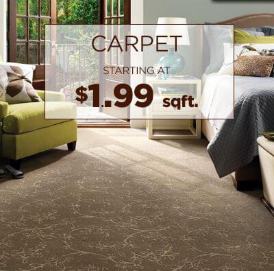Carpet starting at $1.99 sqft.