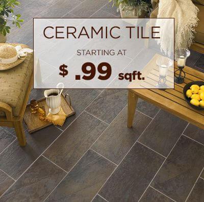 Ceramic Tile Starting at .$ 99 sqft.