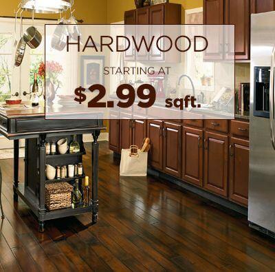 Hardwood starting at $2.99 sqft.