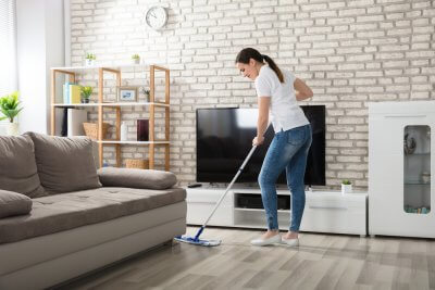 keep hardwood floors clean